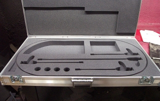 Case with custom foam work for equipment from Transit Pak