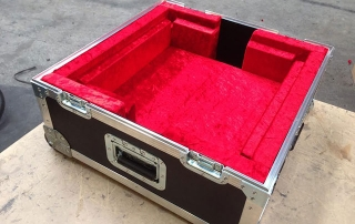 Chess Board Case Flock Material Red