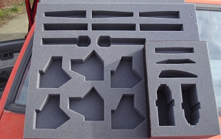 Custom shaped foam insert