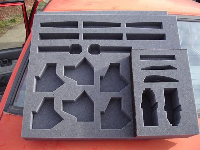 Custom shaped foam insert