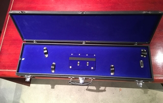 Ceremonial Sword Case In Blue Flocked Material
