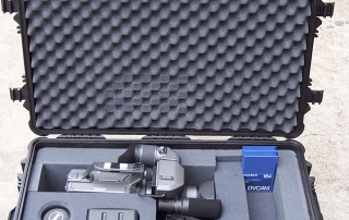 Customized molded case for video equipment and accessories